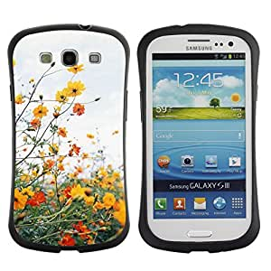 LASTONE PHONE CASE / Suave Silicona Caso Carcasa de Caucho Funda para Samsung Galaxy S3 I9300 / Field Summer Clouds Daisy Warm Sun