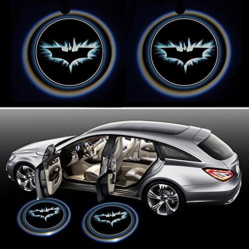 Generic BatDoorLight Black Wireless Car Door LED Projector Light (2x Night Cold Blue bat batman car door courtesy welcome logo shadow ghost light laser projector) (Led Lights For Cars Wireless compare prices)