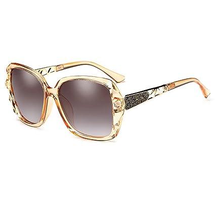 Gafas de sol Gafas De Sol Polarizadas Gran Marco Retro Elegante Espejo De Conducción Anti-