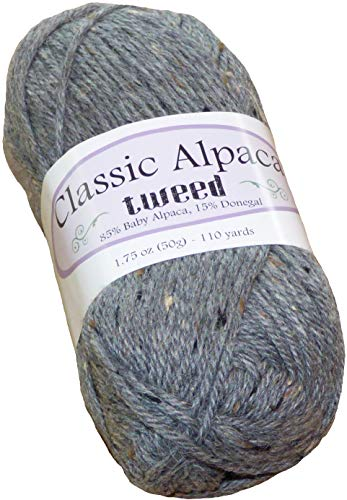 (Stirling Castle Classic Alpaca Tweed 85% Baby Alpaca 15% Donegal Yarn #435)