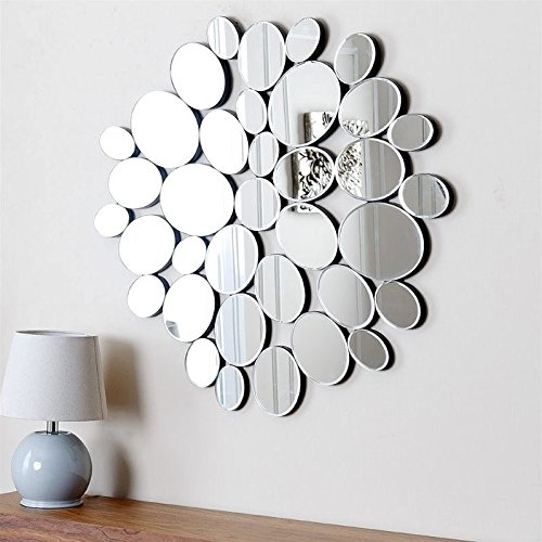 Used, Abbyson Living Gala Accent Wall Mirror in Silver for sale  Delivered anywhere in USA