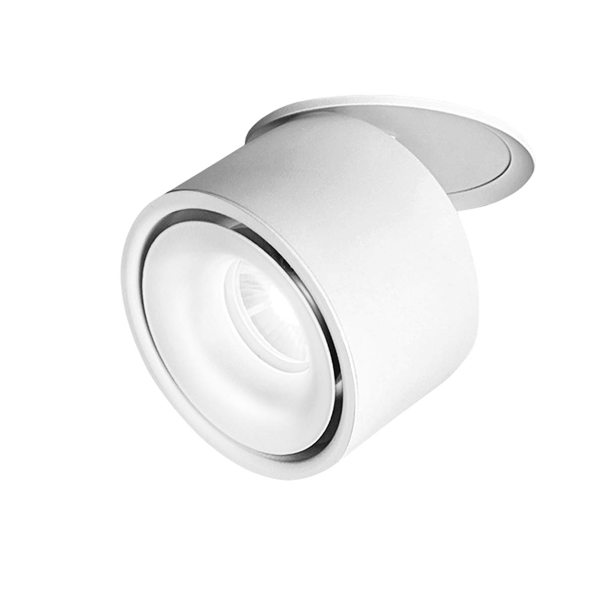 TOPMO Indoor 10W LED Ceiling Fixtures Recessed Ceiling Spotlights/360°Adjustable Ceiling Downlight/10X8CM/Aluminum Spot Light (White 6000K)
