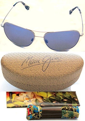 New Maui Jim Cliff House B247-17 Silver/Blue Hawaii Polarized - Sunglass House
