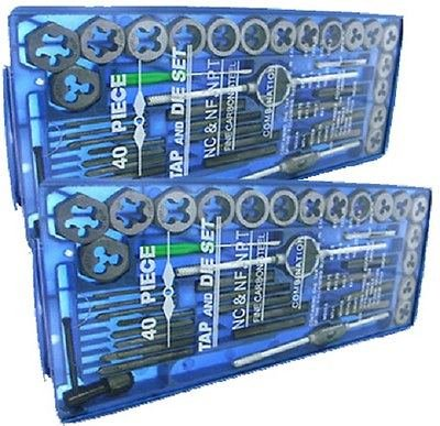New TAP AND DIE Set 80 piece SAE METRIC wCases Screw Extractor Remover