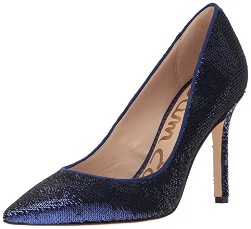 Sam Edelman Women's Hazel Pump, Midnight Navy Sequin, 8 Medium US