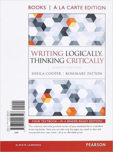 Amazon writing logically thinking critically books a la carte amazon writing logically thinking critically books a la carte edition 8th edition 9780321996596 sheila cooper rosemary patton books fandeluxe Gallery