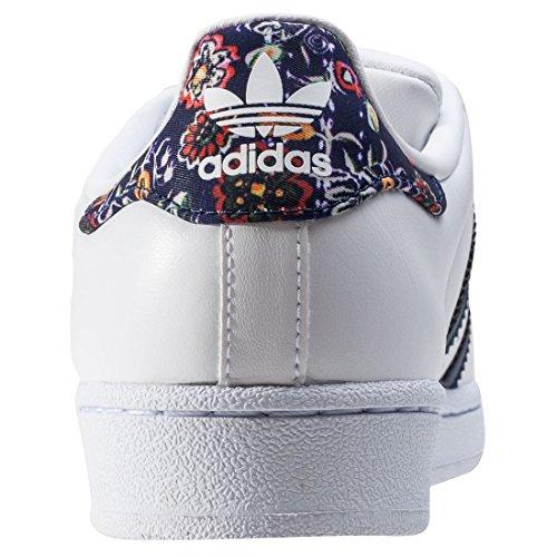 adidas Damen Superstar W Basketballschuhe Multicolore (Ftwwht/Stdars/Ftwwht)