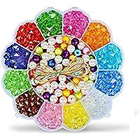 Coloridas cuentas acrílicas para joyas y artesanías,