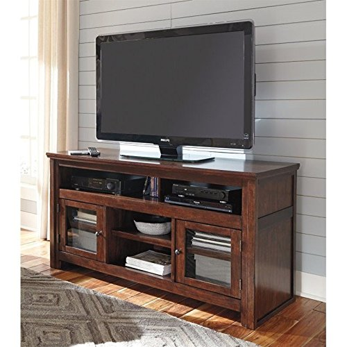 Ashley Furniture Signature Design - Harpan TV Stand - 60 in - Traditional Style - Brown - Hardwood Media Storage Unit