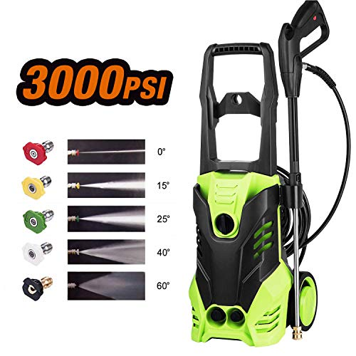 Homdox Electric Pressure Washer 3000 Psi 14 5 Amp 1800w Power Washer Cleaner Machine With 5