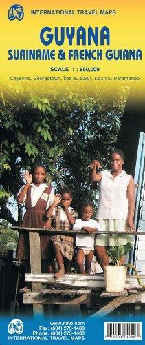 Guyana/Suriname & French Guiana 1:850 000 (International Travel Maps)