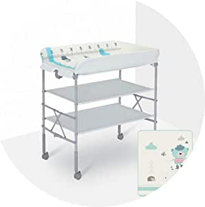 Portable Changing Mats Diaper Table Baby Care Bath Height Adjustable Baby Changing Table (Color : B, Size : 85 * 52 * 93cm)