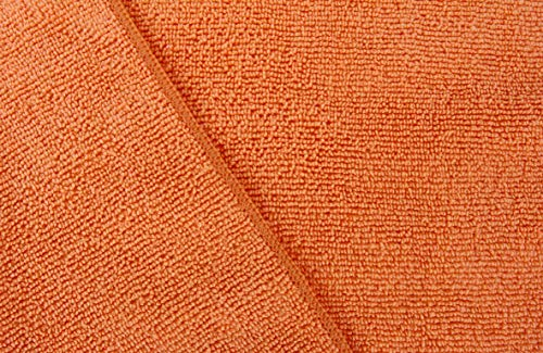 Dri Microfiber Cleaning Cloth Plus 16 x 16 inch (Commerical Grade, Extra Absorb, Cleaning Power and Dry Fast) (240, Orange) by DRI (Image #1)