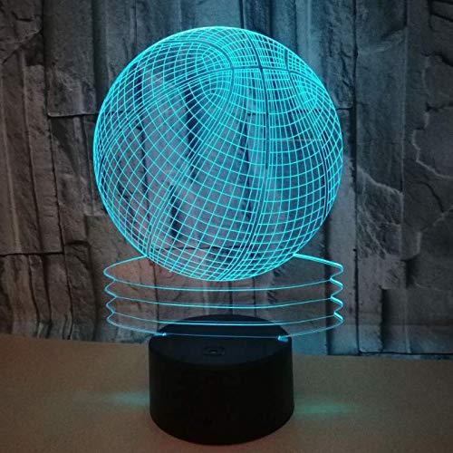 Lámpara 3D Lámpara de noche LED Mesa táctil Lámpara El ...