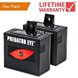 Predator Eye - Aspectek - Night Time Solar Powered Animal Repeller - 2 Pack, Waterproof, Animal Control, Nocturnal Animals, Outdoor Use ()