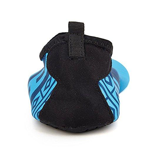 SANBANG Herren Damen Wasser Schuhe Quick-Dry Barfuß Schuhe für Schwimmen Beach Pool Surf Yog Welle Himmelblau