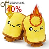 Eaterhom USB Heated Gloves -Toast Hand Warmers Gloves Mitten Unisex Fingerless USB Heated Laptop Typing &Texting Hand Warmer Gloves for Women and Children Winter Fashion Gift