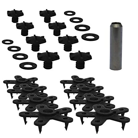 Pack of 4 for 2 Mats Eagle Klaw Made in USA Grey Floor Mat Clips Set of Anti-Slip Fixing Retainers for Car Mats Without Cutter