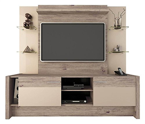 Manhattan Comfort Morning Side Entertainment Center, Nature and Nude