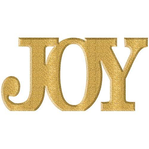(Amscan Glitter Gold Joy Sign, Christmas Decorations, Mantle Decor, 13