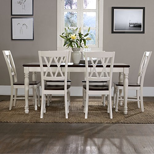 Crosley Furniture KF20001-WH Shelby 7-Piece Dining Set, White by Crosley Furniture (Image #5)