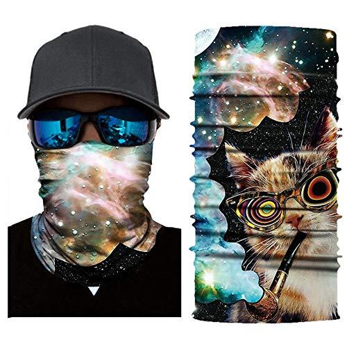 Palalibin Cycling Motorcycle Head Scarf Neck Warmer Face Mask Ski Balaclava Headband (G, Free)