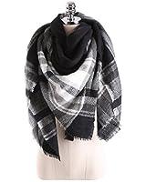 HITOP Women Tartan Scarf Stole Plaid Blanket Checked Scarves Wraps Shawl