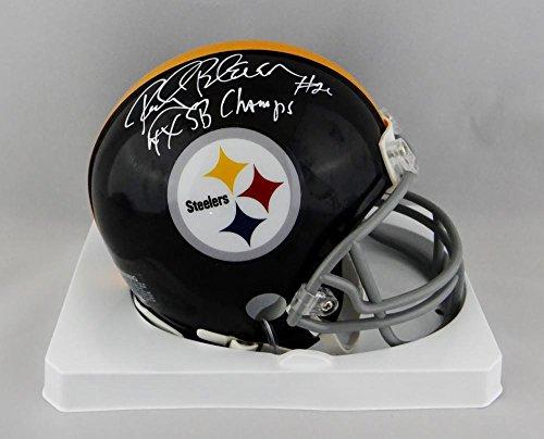 2c9b91f9c7a Rocky Bleier Autographed Steelers TB Mini Helmet w/ 4x SB Champs- JSA W  Auth White