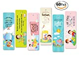 Launching Sales!! 60 Packs Bookmarks Christian Bible Verses Encouraging Bookmark for Kids Girls and boy