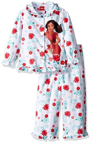 Disney Toddler Girls Elena 2-piece Pajama Coat Set, White, 3T