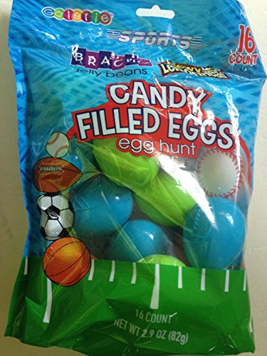 Sports Ball orientated plastic Easter Eggs with chewy Lemonh