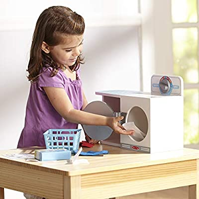 Melissa & Doug Wash, Dry and Iron Play Set - Pretend Play Laundry Cleaning Set: Toy: Toys & Games