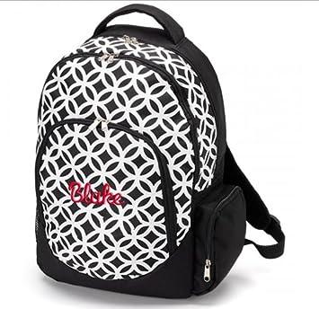 aBaby Sadie Backpack, Black, Name Blake