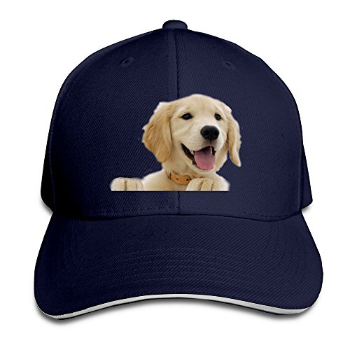 unisex-golden-retriever-adjustable-snapback-baseball-caps-100cotton-navy-one-size