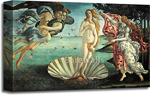 Botticelli Sandro Canvas - The Birth of Venus by Sandro Botticelli Gallery Wrapped Canvas Art (12in. x 18in.)