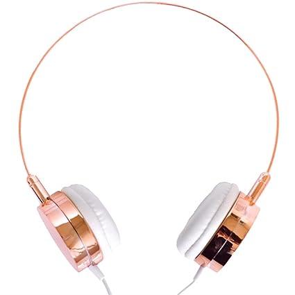 Lily England Auriculares de Diadema con Micrófono y Control de Volumen, Compatibles con Android/