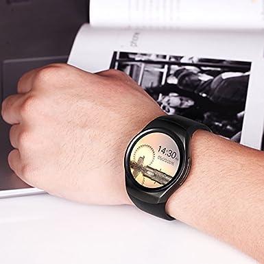 Efanr KW18 redondo Bluetooth reloj inteligente con ranura ...