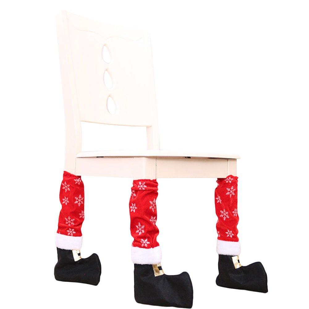 Kicode Weihnachten Stuhl Tisch Fuß Socken Stiefel Abdeckung Dinning ...