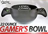 Cucina Vita 22 Ounce Gamer's Bowl: ''Level Cleared'' Design! (Black)