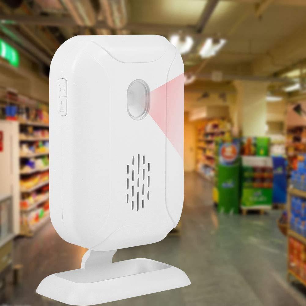 Detector de Sensor de Movimiento PIR Inal/ámbrico con IR Timbre Inal/ámbrico para Puerta Bienvenido Timbre Campana Puerta Volumen Ajustable de 4 Niveles