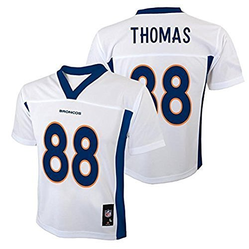Demaryius Thomas Denver Broncos NFL Youth White Road Mid-Tier Jersey (Youth Small 8)