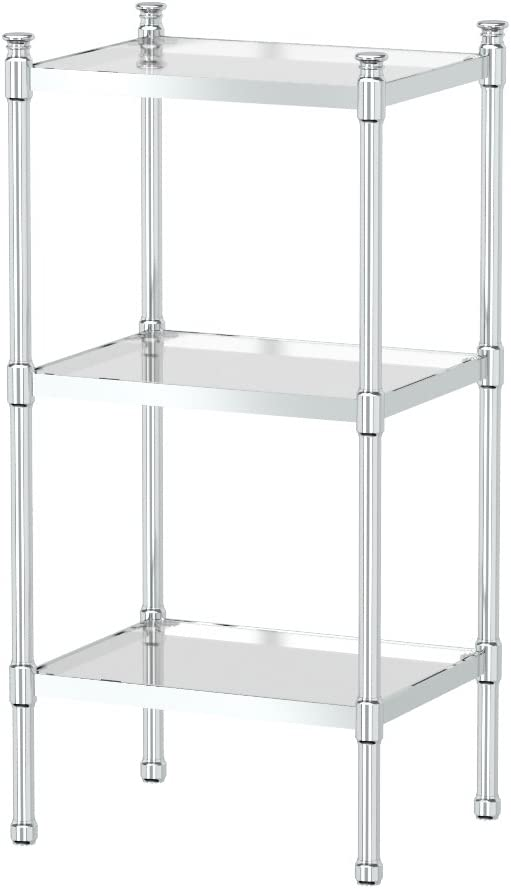 Gatco 1351 3-Tier Rectangle Taboret in Chrome