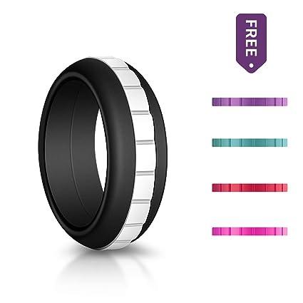 Amazon Com Szhsr Silicone Wedding Ring For Men Women Single