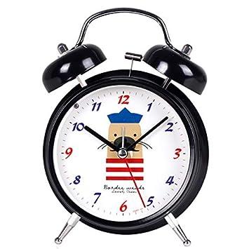 CQ Despertador Estudiante Mudo Moda Creativa Noche Luz Reloj Digital Metal Jugar Ling Personalidad Simple: Amazon.es: Hogar
