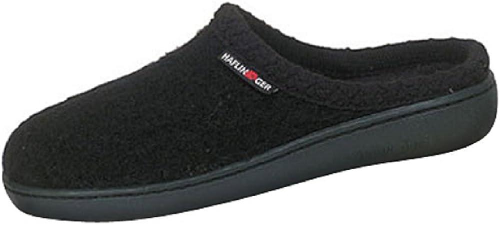 42 Unisex Black HAFLINGER at Classic Hardsole Slipper