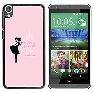For HTC Desire 820 , S-type® Glitter Girls Pink Black Text Minimalist - Arte & diseño plástico duro Fundas Cover Cubre Hard Case Cover
