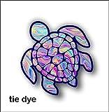 Sea Turtle Decal/sticker by vinyl junkie graphics (tye dye)
