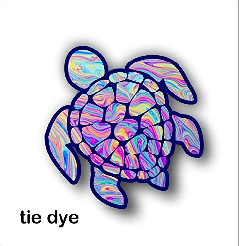 Sea Turtle Decal/sticker (tye dye)
