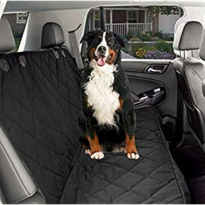 CPG DOTS Non-Slip, Dog Back Seat Cover | Durable Oxford Fabric & Polyester Pet Seat Covers | Scratch Proof Bench & Hammock Convertible, Rear Seat Covers for Small and Large Dogs 85