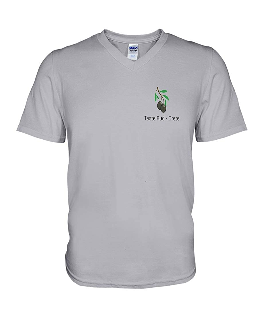 Linda Youngss Taste Bud Crete V-Neck T-Shirt Ash XS